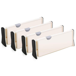 Explore 4 pack adjustable drawer dividers organizer separators good grips dresser organizer for bedroom bathroom closet baby drawer desk kitchen storage