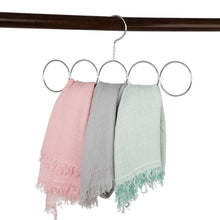 Load image into Gallery viewer, Buy now poeland 1kuan scarf closet organizer hanger no snag storage scarves ties belts shawls pashminas 2 pack
