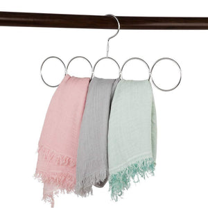 Buy now poeland 1kuan scarf closet organizer hanger no snag storage scarves ties belts shawls pashminas 2 pack