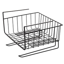 Load image into Gallery viewer, Home aiyoo heavy duty under shelf basket with paper towel holder for pantry cabinet closet wire rack storage basket wardrobe office desk space save bathroom kitchen organizer baskets for extra storage