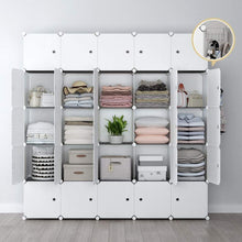 Load image into Gallery viewer, Try yozo modular closet portable wardrobe for teens kids chest drawer ployresin clothes storage organizer cube shelving unit multifunction toy cabinet bookshelf diy furniture white 25 cubes