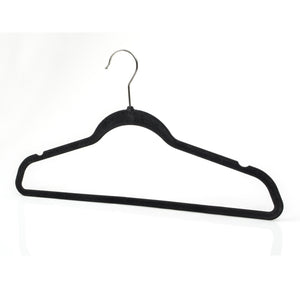 Amazon best michael graves design premium ultra thin non slip velvet clothing hangers flocked durable closet space saving chrome hook for garments suits dresses pants shirts coats 50 pack black