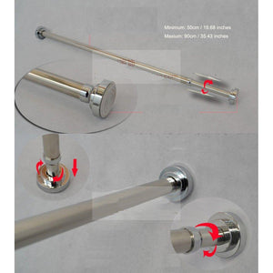 Buy szdealhola stainless steel extendable tension closet rod extender hanging pole retractable