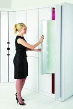 Load image into Gallery viewer, Organize with rev a shelf pullout closet mirror satin nickel