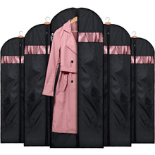 Load image into Gallery viewer, Exclusive house day garment bags for storage5 pack 60 inch garment bags for travel lightweight oxford fabric suit bag for storage and travel closet washable suit cover for dresses suits coats