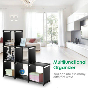 Amazon best tomcare cube storage 6 cube closet organizer shelves storage cubes organizer cubby bins cabinets bookcase organizing storage shelves for bedroom living room office black