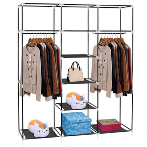 Storage hello22 69 closet organizer wardrobe closet portable closet shelves closet storage organizer with non woven fabric quick and easy to assemble extra strong and durable extra space
