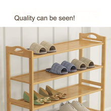 Load image into Gallery viewer, Amazon gx xd simple multi layer bamboo shoe rack dust proof multifunction shoe tower shoe cabinet space saving easy to assemble shoe organizer unit entryway shelf organize your closet cabinet or entryway r