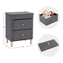 Load image into Gallery viewer, Amazon best kamiler 2 drawer nightstand beside table end table storage organizer unit for bedroom hallway entryway closets no tool required to assemble