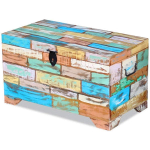 Top rated fesnight reclaimed wood storage chest lockable wooden storage box trunk cabinet with handles for bedroom closet home organizer collection furniture decor 28 7 x 15 4 x 16 1l x w x h