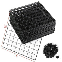Load image into Gallery viewer, Get genenic 12 cube closet organizer garage storage racks sets shelf cabinet wire grids panels and units for books plants toys shoes clothes stainless steel black