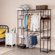Load image into Gallery viewer, Online shopping tangkula garment rack portable adjustable expandable closet storage organizer system home bedroom closet shelves clothes wardrobe coffee