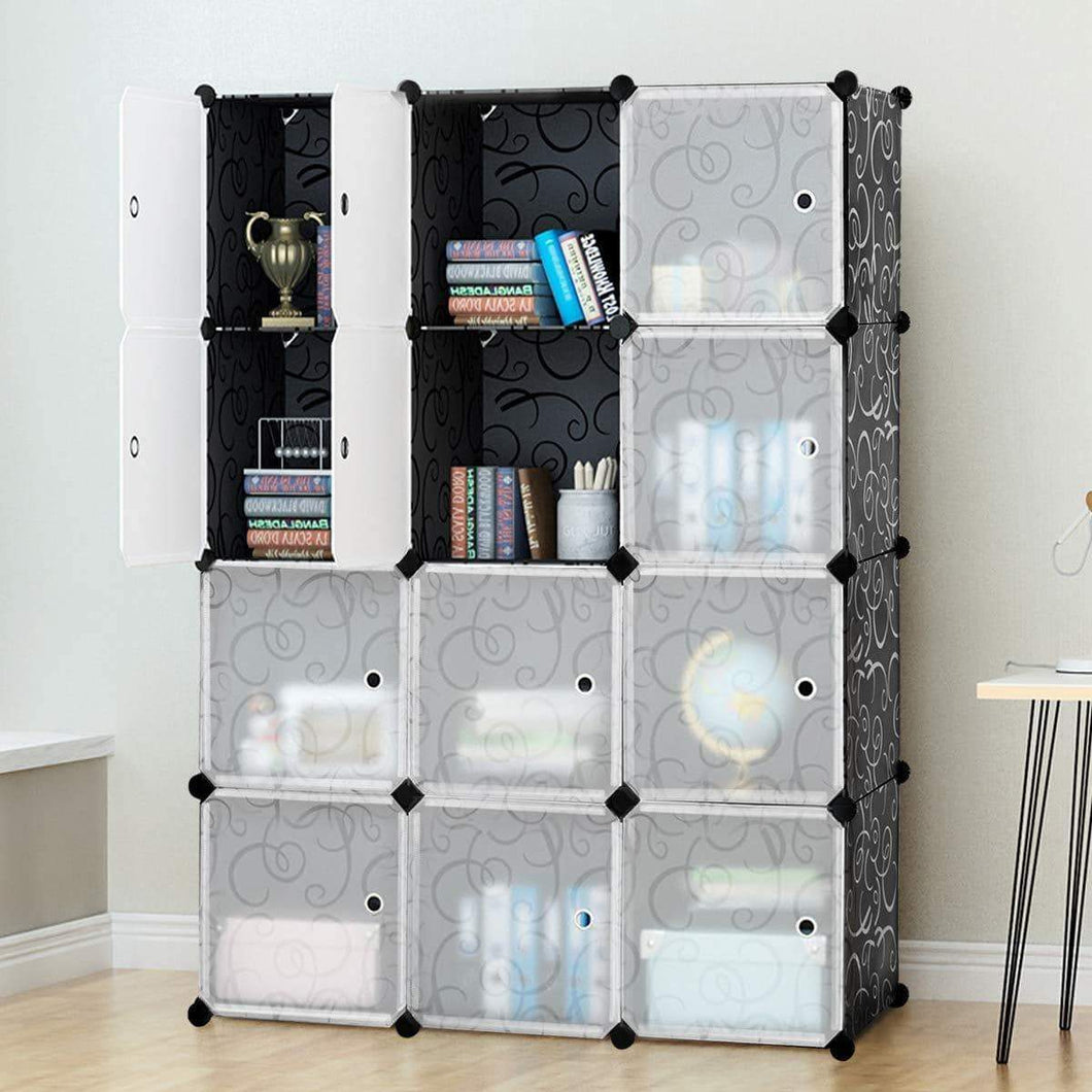New tangkula diy storage cubes portable clothes closet wardrobe cabinet bedroom armoire diy storage organizer closet 12 cubes