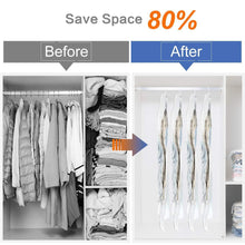 Load image into Gallery viewer, Storage organizer taili hanging vacuum space saver bags for clothes 4 pack long 53x27 6 inches vacuum seal storage bag clothing bags for suits dress coats or jackets closet organizer and storage
