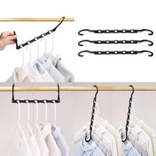 Load image into Gallery viewer, Storage organizer house day black magic hangers space saving clothes hangers organizer smart closet space saver pack of 10 with sturdy plastic for heavy clothes