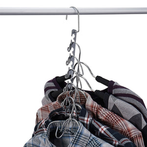 New doiown space saving hangers 4 pack closet organizer hanger stainless steel clothing hangers 4 pack
