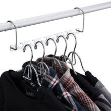 Load image into Gallery viewer, Online shopping doiown space saving hangers 4 pack closet organizer hanger stainless steel clothing hangers 4 pack