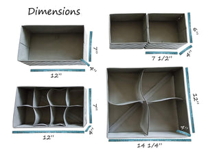 Buy la luna sock organizer drawer organizer dresser closet clothes kitchen junk drawer divider hanging closet organizer baby drawer organizer lipstick organizer makeup organizer countertop