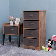 Load image into Gallery viewer, Featured iwell wooden dresser storage tower with removable 4 drawer chest storage organizer dresser for small rooms living room bedroom closet hallway rustic brown sng004f