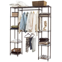 Load image into Gallery viewer, Latest tangkula garment rack portable adjustable expandable closet storage organizer system home bedroom closet shelves clothes wardrobe coffee