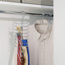 Load image into Gallery viewer, Buy now interdesign classico vertical closet organizer rack for ties belts chrome 06560