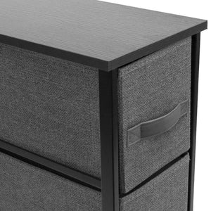 New sorbus narrow dresser tower with 4 drawers vertical storage for bedroom bathroom laundry closets and more steel frame wood top easy pull fabric bins black charcoal