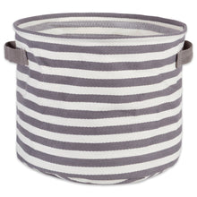 Load image into Gallery viewer, The best dii fabric round room nurseries closets everyday storage needs asst set of 3 gray stripe laundry bin assorted sizes