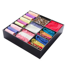 Load image into Gallery viewer, Shop here luxury and stylish acrylic organizer fine and elegant gift keep belts socks ties underwear panties briefs boxers scarves organized drawer divider closet and storage box