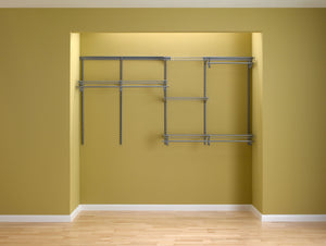 Shop for closetmaid 78809 shelftrack 5ft to 8ft adjustable closet organizer kit satin chrome