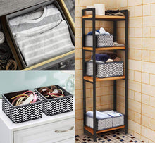 Load image into Gallery viewer, Buy now ilauke drawer underwear organizers storage box foldable closet dresser drawers divider organizer fabric cloth basket bins for sock bras baby clothes set of 8 grey