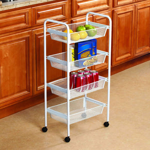 Best kitchen details simplify 4 drawer rolling utility storage cart organizer good for pantry office craft room garage closet classroom more 4 tier