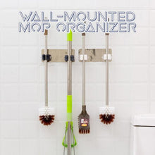 Load image into Gallery viewer, Wall Mounted Mop Organizer