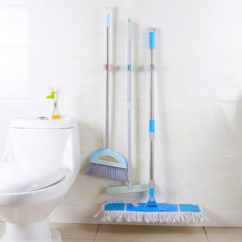 Mop Broom Holders Organizer Wall Mounted Garden Hanger, 3pcs