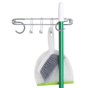 InterDesign Classico Wall Mount Mop and Broom Holder