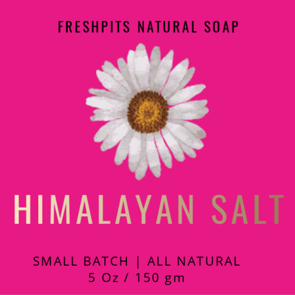FreshPits Natural Products | Himalayan Salt Handmade Soap | No Sulfates | No Parabens | No GMO | 4 Oz - FreshPits Natural Soaps🌱🌸🌼