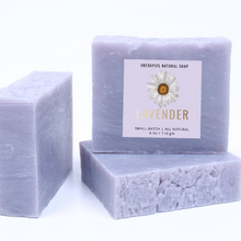 Load image into Gallery viewer, 3 Bars of Lavender Hand Soaps - FreshPits Natural Soaps🌱🌸🌼