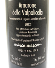 Load image into Gallery viewer, MARCO MOSCONI AMARONE DELLA VALPOLICELLA 2012 16% 75CL