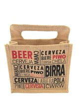 Load image into Gallery viewer, SAN MICHELE CRAFT BEER X6 IN CERVEZA JUTE BAG