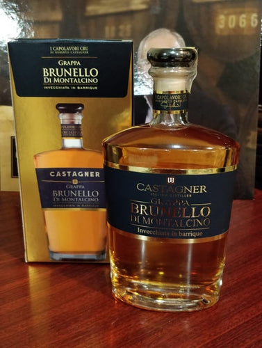 2 BOTTLES GRAPPA BRUNELLO BARRIQUE 50CL