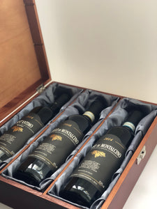 MIXED BRUNELLO x3 IN A WOODEN & SILK BOX