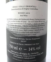 Load image into Gallery viewer, CANUS MEZZOSECOLO DOC FRIULI COLLI 2012 14% 75CL