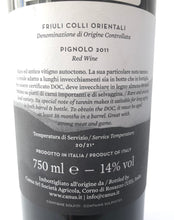 Load image into Gallery viewer, CANUS PIGNOLO DOC FRIULI COLLI 2011 14% 75CL