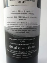 Load image into Gallery viewer, CANUS REFOSCO DOC FRIULI COLLI 2014 14% 75CL
