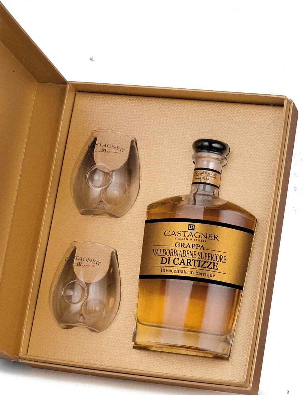 CASTAGNER GRAPPA CARTIZZE GIFT BOX 38% 50CL