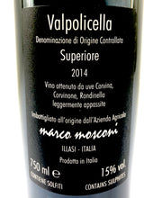 Load image into Gallery viewer, MARCO MOSCONI VALPOLICELLA SUPERIORE 2014 14% 75CL