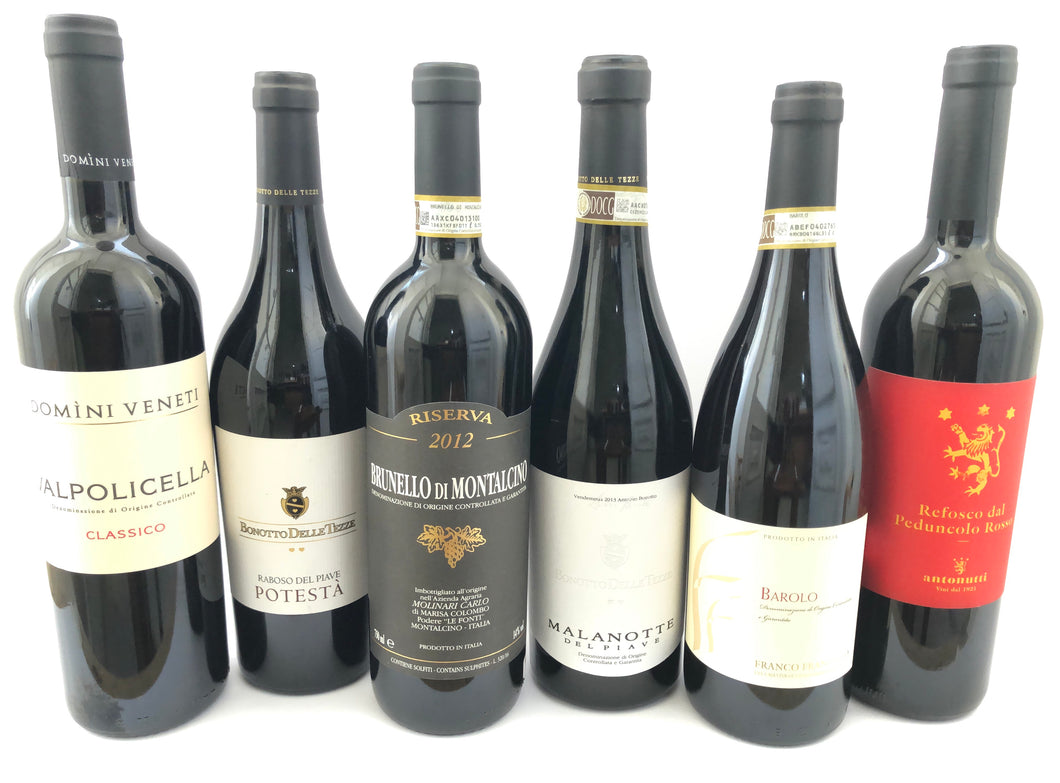 ITALIAN RED PREMIUM WINE MIXED CASE X6