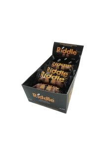 RIDDLE PEANUT BUTTER WAFER WITH BITTER CREAM & COATED IN MILK CHOCOLATE 45G