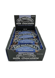 EAT NATURAL MILK CHOCOLATE WITH PEANUTS AND CRANBERRIES 45G