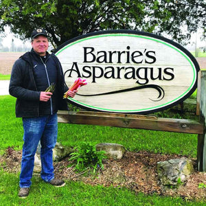 Tim Barrie of Barrie's Asparagus near Kitchener, Ontario