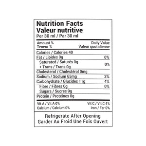 Rootham Fire-Roasted Red Pepper Ketchup Nutritional Info